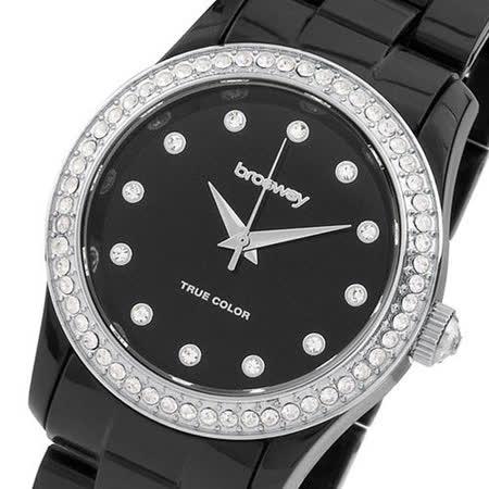 【好物推薦】gohappy快樂購物網【brosway】True Color Mini 女錶鑽面PC鍊帶 黑色推薦高雄 大 远 百