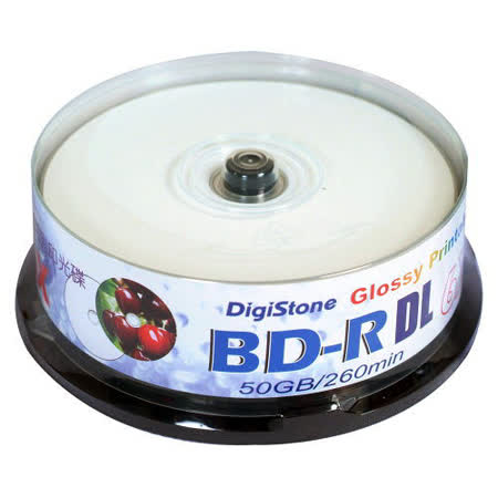 DigiStone 藍光 6X BD-R DL 50GB 光澤亮面 可印 ( 100片)