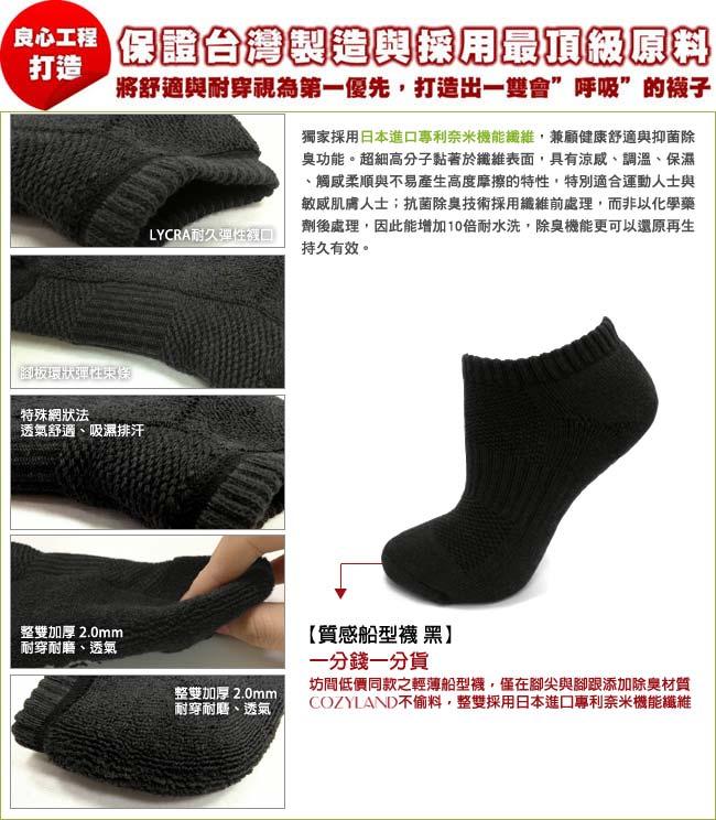 輕薄船型襪,一雙會呼吸的襪子,獨家採用日本進口專利奈米機能纖維