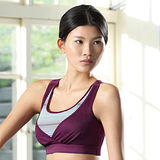 【華歌爾】城市輕運動系列D罩杯瑜珈內衣(亮紫紅)