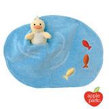 美國【Apple Park】有機棉手指玩偶安撫巾 - 水塘小鴨