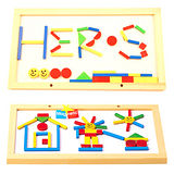 【德國HEROS木製積木】磁性拼畫板 40pcs-77202