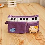 【貝斯貓】(ABS)拼布零錢包/手拿包/証件包/化妝包88-176 紫色