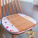 【奶油獅】正版授權-涼夏必購~高支撐記憶聚合-搖滾星星紙纖餐椅墊-淡紫(二入)