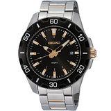 SEIKO 簡約潮流經典百米運動錶(黑/金針-7N42-0EF0K)