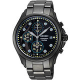 SEIKO Criteria 繁華星空浪漫計時腕錶-IP黑 7T92-0PE0SD