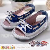 (購物車)魔法Baby~【KUKI酷奇】蝴蝶結魚口涼鞋/休閒鞋(粉.藍.桔)~女童鞋~sh2617