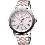 TOMMY HILFIGER 歐美時代都會腕錶-銀/玫塊金 M1781217