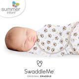 美國 Summer Infant SwaddleMe 嬰兒包巾 【純棉薄款- 香蕉小猴】大號 - 可調式懶人包巾