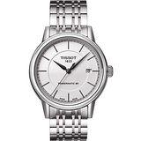TISSOT Carson Powermatic 80 經典機械腕錶-銀 T0854071101100