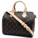 Louis Vuitton LV M41113 M40390 人氣款Speedy 25 經典花紋附背帶手提包 預購