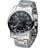SEIKO Premier 人動電能 都會科技時尚腕錶 5D22-0AD0D SRG009J1