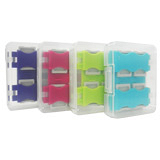 馬卡龍8片裝microSD卡專用收納盒(四色) - 加送12片裝黑色版收納盒 超值組
