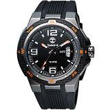 Timberland champlain 時尚日期型男腕錶-黑 TBL.13852JSU/61