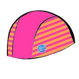 潑寶 Splash About - Swim Hat 抗UV泳帽-桃紅 / 芒果橘條紋
