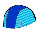 潑寶 Splash About - Swim Hat 抗UV泳帽- 寶藍 / 珊瑚綠條紋