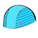 潑寶 Splash About - Swim Hat 抗UV泳帽- 水藍 / 珊瑚綠條紋