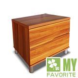 最愛傢俱 【美迪亞】 巴西梨木色 雙抽床頭櫃