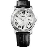 Hugo Boss 羅馬精神復刻腕錶-銀/黑 H1512713