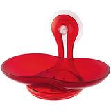 《KOZIOL》吸盤肥皂架(透紅)