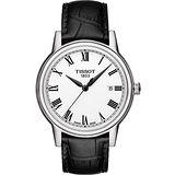 TISSOT T-Classic Carson 羅馬石英腕錶-白/黑 T0854101601300