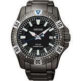 SEIKO 太陽能怒海征服者潛水200米腕錶-IP黑 V157-0AS0SD