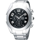 ALBA 街頭玩家時尚逆跳計時腕錶-黑/銀 VD50-X009D