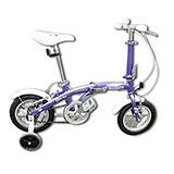 【OYAMA】歐亞馬12吋單速高碳鋼兒童折疊車海豚S100 (葡萄紫)