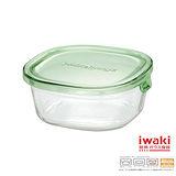 【iwaki】玻璃微波盒 450ml(綠)