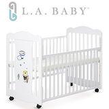 L.A. Baby 美國加州貝比 奧蘭多嬰兒搖擺大床/原木床/童床(白色/咖啡色)