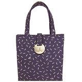 agnes b 仿舊漆點帆布手提包(小/ 紫)