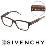 GIVENCHY 法國魅力紀梵希浪漫蛇紋造型平光眼鏡(棕) GIVGV7970AL6