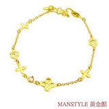 Manstyle「柔情真愛」黃金手鍊 (約1.39錢)