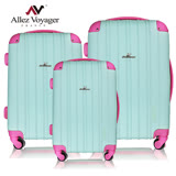 【法國 奧莉薇閣】繽紛系-彩妝玩色風輕量行李箱三件組