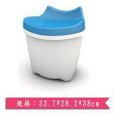 樹德SHUTER 朵貓貓置物椅CB-16L-粉藍(33.7*28.2*38cm)