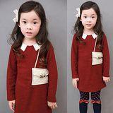 【秋冬新款】時尚小包款((紅色))裙式~長袖上衣/洋裝