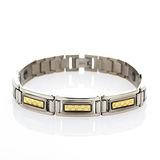 【LOHAS-日本鍺鈦】晶典格紋5顆錐形金屬鍺女款手鍊