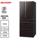 ★牌面品★『SHARP』☆夏普 日本原裝 601L 6門玻璃鏡面對開冰箱 SJ-GF60X