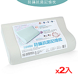 ★2件超值組★三井武田防蹣抗菌記憶枕頭(50*30cm)