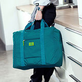 M Square 防水折疊式旅行購物袋(水藍)