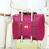 M Square 防水折疊式旅行購物袋(紫紅)