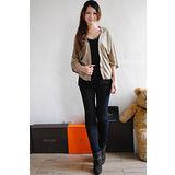 【ZARA】BSK 歐美時尚亮蔥寬袖披肩外套(金)