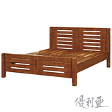 【優利亞-時尚貴族柚木色】加大6尺實木床架