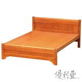 【優利亞-古道簡約】加大6尺實木床架