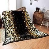 《KOSNEY-金錢豹紋》頂級日本新合纖雙層舒眠毛毯180*210cm