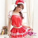 【天使霓裳】閃耀星芒 狂熱聖誕舞會 耶誕服 角色服(紅)