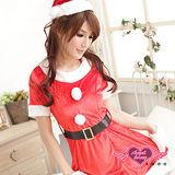【角色扮演館-天使霓裳】夢幻甜心 聖誕派對 時尚洋裝耶誕服 角色服(紅)