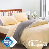【Jumendi-水鑽之星.米】台灣製防蹣抗菌被套床包組-雙人