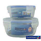 Luminarc樂美雅 2件玻璃保鮮盒組 PB-920+420