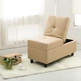 【AHOME】Eno伊諾收納式皮革小沙發/椅凳(共3色)